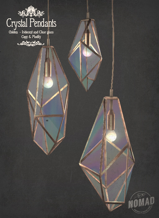 NOMAD – Golden Crystal Pendants