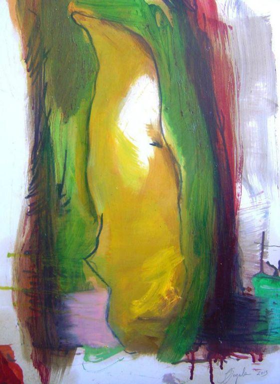 Entro - 45x34 cm Oil on paper 2014