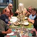 New Orleans readers of Daily Kos dine with DK Staff. L R: P Carey, Chris Reeves, Meteor Blades, Crashing Vor, cv lurking gf and peregrine Kate