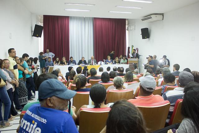 Usuários e trabalhadores do sistema de saúde participam de audiência pública na Câmara de João Pessoa (PB) com o tema da luta antimanicomial - Créditos: Carol Andrade