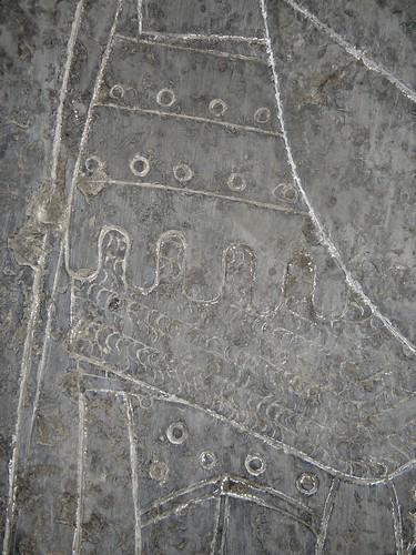 ca. 1350 - 'Thierry du Chasteler, seigneur de Moulbaix (+ca. 1325) & Marie de Harchies, or Guillaume du Chasteler (+1378) & Béatrice du Mortagne', Église Saint-Sulpice, Moulbaix, Ath, province of Hainaut, Belgium