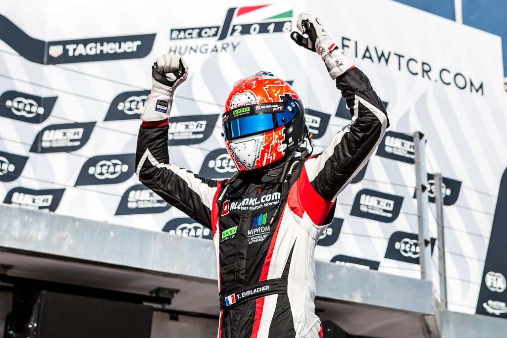 ERLACHER Yann (FRA), ALL-INKL.COM Munnich Motorsport, Honda Civic TCR, portrait, winner during the 2018 FIA WTCR World Touring Car cup, Race of Hungary at hungaroring, Budapest from april 27 to 29 - Photo Thomas Fenetre / DPPI