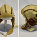 National Museum of the USAF-Plans call for this early B-5 flight helmet to be displayed near the Memphis Belle:tm: as part of the new strategic bombardment exhibit in the WWII Gallery, which opens to the public on May 17, 2018. Some of the Eighth Air Force bomber crewmen wore these in 1942 and early 1943. (U.S. Air Force photo by Ken LaRock)