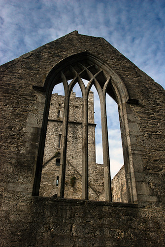 Muckross Abbey at Killarney National Park in Ireland