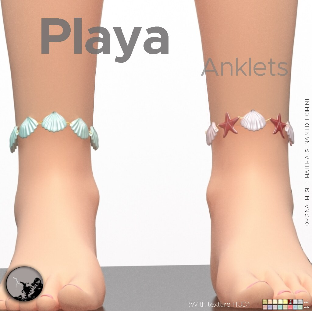 *PC* Playa Anklets (TCF Bday gift)