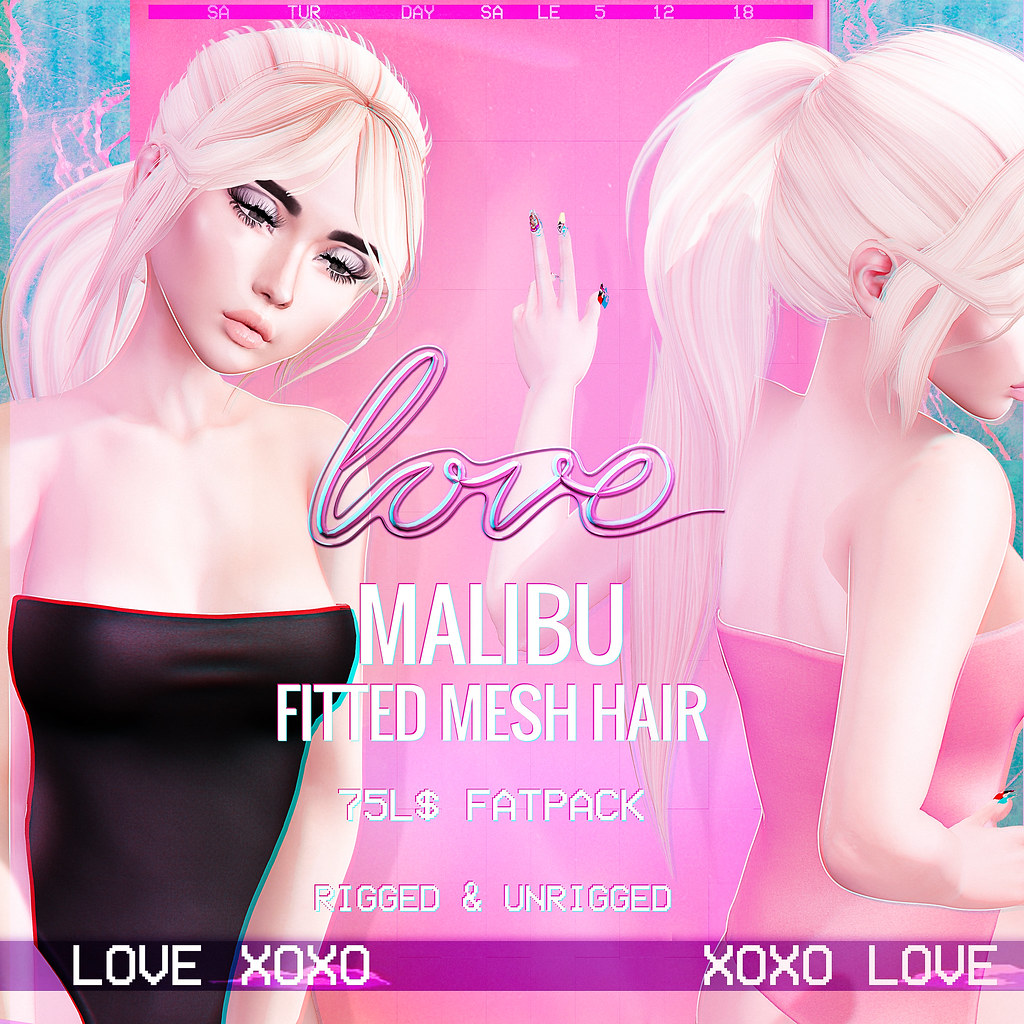 Love [Malibu] Fitted & Unrigged Hair - The Saturday Sale! - TeleportHub.com Live!