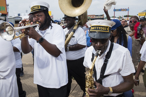 Smitty Dee's Brass Band at Jazz Fest day 6 on May 5, 2018. Photo by Ryan Hodgson-Rigsbee RHRphoto.com