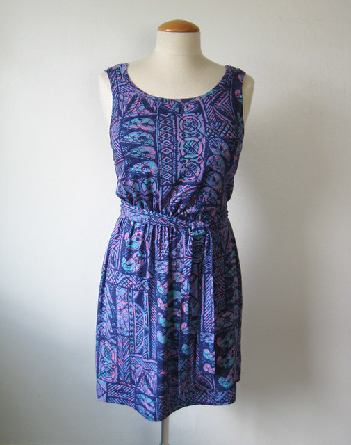 Knit dress on form front
