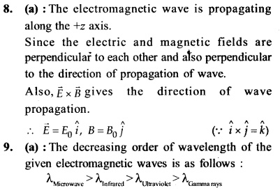 NEET AIPMT Physics Chapter Wise Solutions - Electromagnetic Waves explanation 8,9