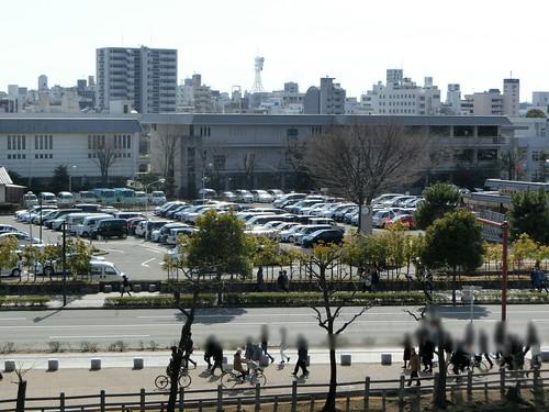 姫路城の駐車場
