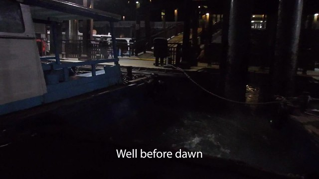 Predawn survey at Pulau Sekudu, 17 May 2018