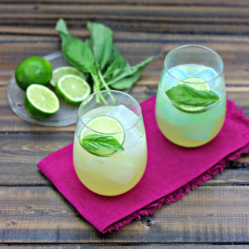 Lemon Basil Margaritas