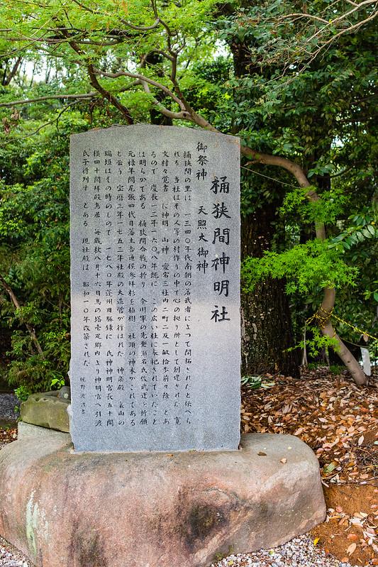 桶狭間神明社の案内板