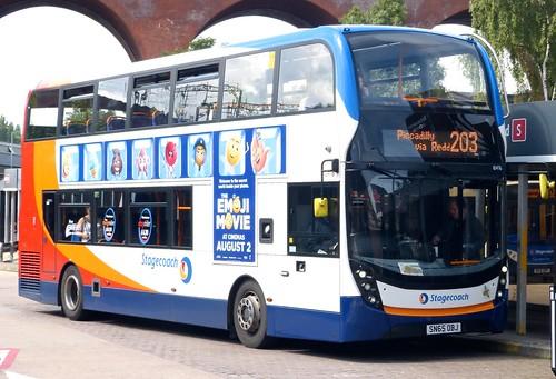 SN65 OBJ 'Stagecoach Manchester' No. 10476. 'ADL' E40D / 'ADL' Enviro 400MMC  on 'Dennis Basford's railsroadsrunways.blogspot.co.uk'