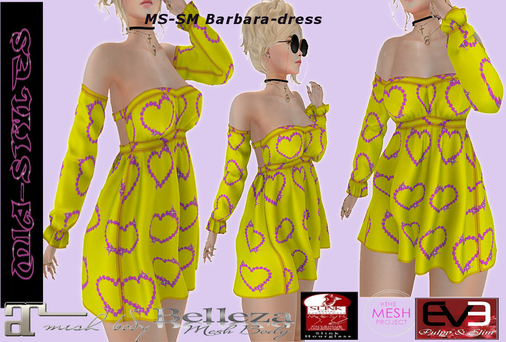 MS-SM Barbara-dress yellow