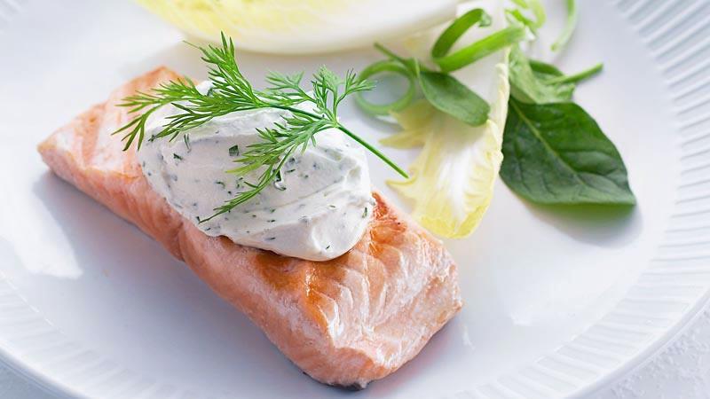 Steak salmon.