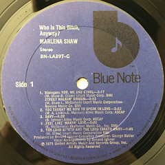 MARLENA SHAW:WHO IS THIS BITCH, ANYWAY?(LABEL SIDE-A)