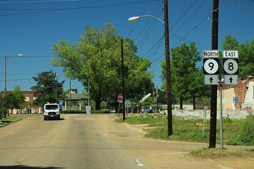 MS9 North MS8 East Signs - Calhoun City