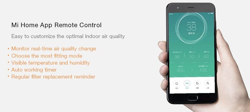 Xiaomi OLED Display Smart Air Purifier 2S レビュー (11)