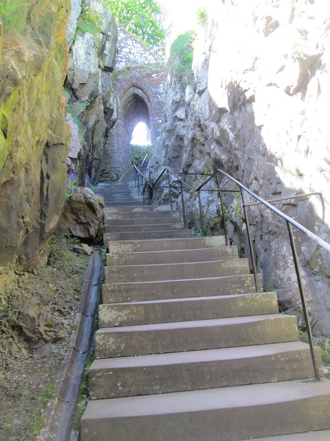 Dumbarton Castle stairs, Dumbarton Rock