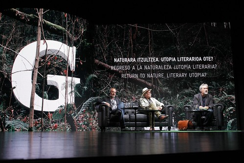 Encuentro con con Stefano Mancuso, Manuel Rivas y Eudald Carbonell