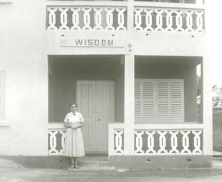 Erma Grove at Girls Hostel Accra Ghana 1958