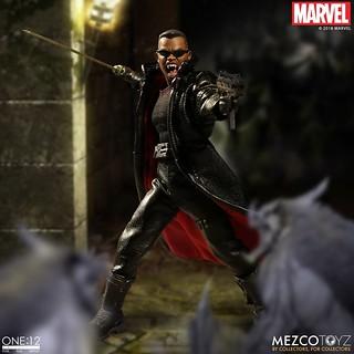 令吸血鬼聞風喪膽的「日行者」駕到!!MEZCO ONE:12 COLLECTIVE 系列 Marvel Comics【刀鋒戰士】Blade 1/12 比例人偶作品