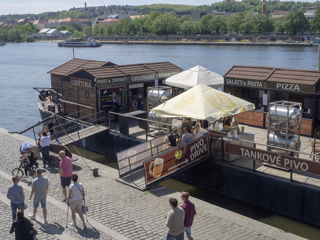 Vltava riverbank Praha