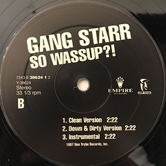 GANG STARR:YOU KNOW MY STEEZ(LABEL SIDE-B)