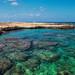 Crystal clear blue sea Northern Cyprus