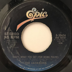 THE JACKSONS:SHAKE YOUR BODY(DOWN TO THE GROUND)(LABEL SIDE-B)