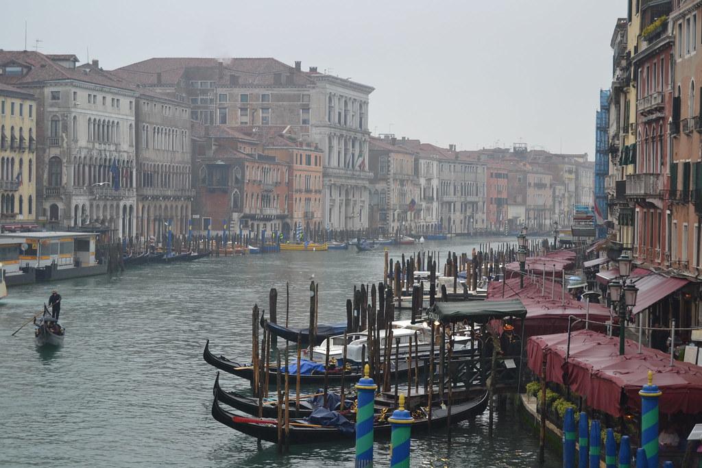 Gran Canal desde Ponte de Rialto. Venezia