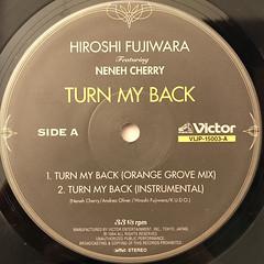HIROSHI FUJIWARA:TURN MY BACK(LABEL SIDE-A)