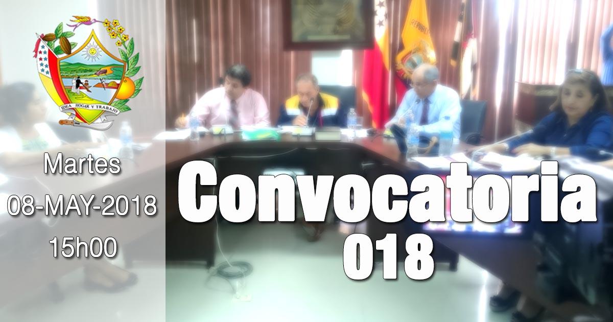 Convocatoria 018