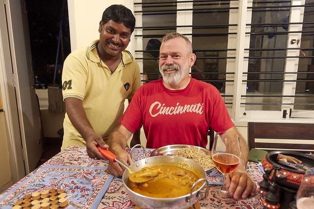 Prabhu cooks mutton curry