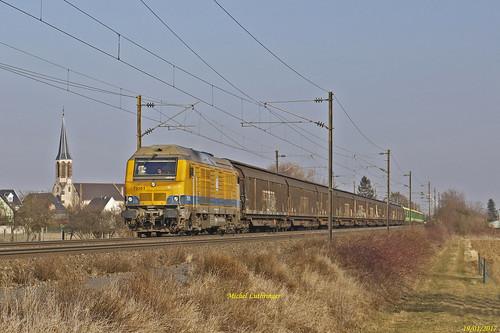 BB 75101 TSO Train 61981 Sélestat-Belleville sur Saône à Raedersheim