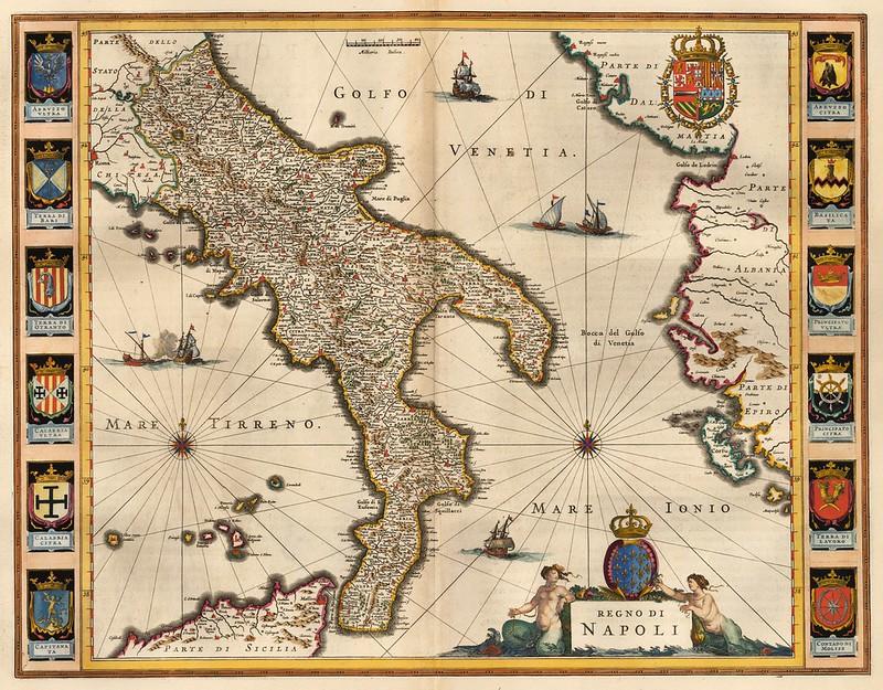 Willem Janszoon Blaeu - Regno Di Napoli (c.1640)