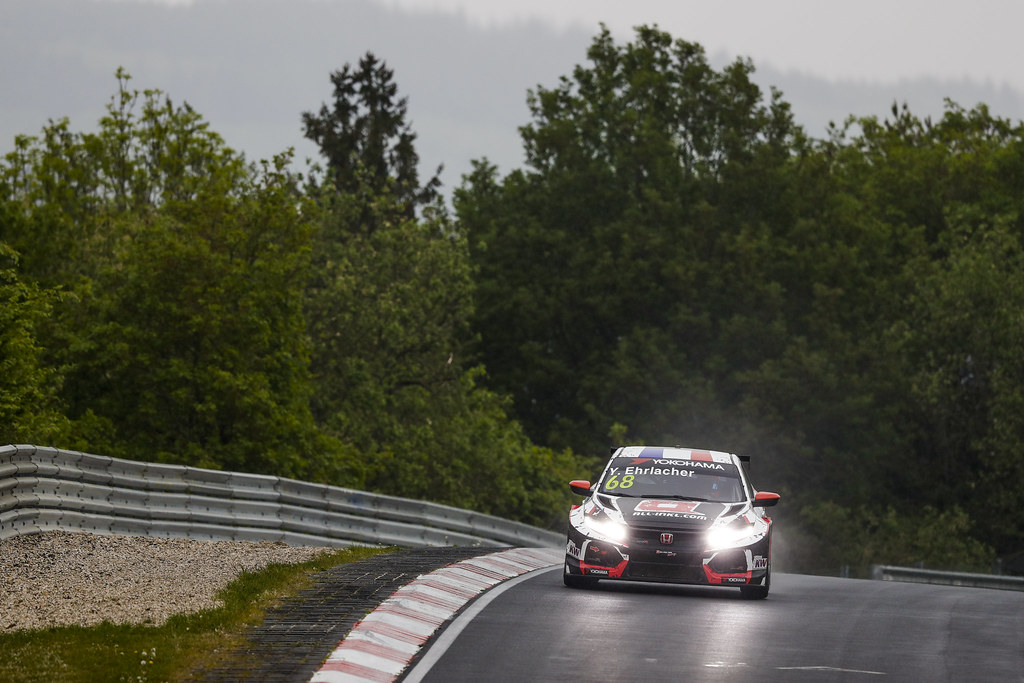 68 EHRLACHER Yann (FRA), ALL-INKL.COM Munnich Motorsport, Honda Civic TCR, action during the 2018 FIA WTCR World Touring Car cup of Nurburgring, Germany from May 10 to 12 - Photo Florent Gooden / DPPI