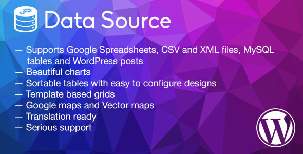 Data Source v1.2.3 – charts, tables, maps and data grids