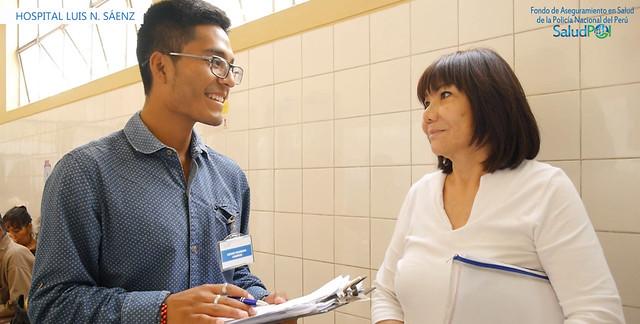 SALUDPOL encuesta a asegurados del hospital Luis N. Sáenz para mejorar calidad de atención en salud