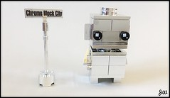 Bling Bling Silver Chrome Brickhead from Chrome Block City