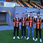 Alexander Jack, Christopher Hay, Cory Ritchie and Gary McGowan, who have all signed new two year deals