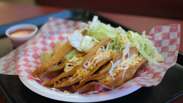 Fried Tacos from Maria's Mexican Food in Valley Junction West Des Moines, Iowa