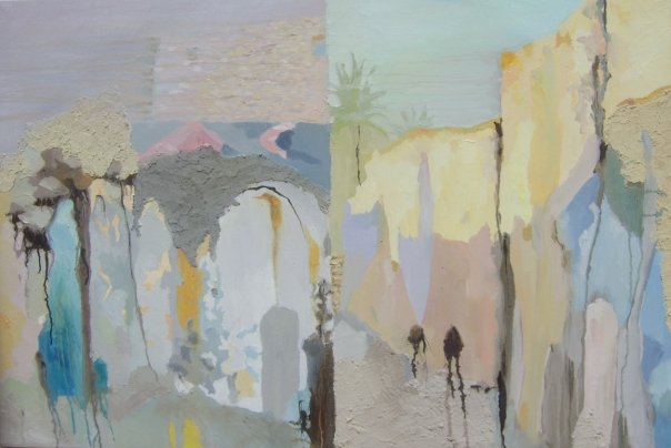 Chemin - 73x103 cm. Oil on canvas 2008