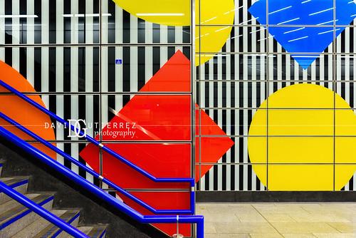 Parti-Coloured - Tottenham Court Road London Underground Tube Station, London, UK