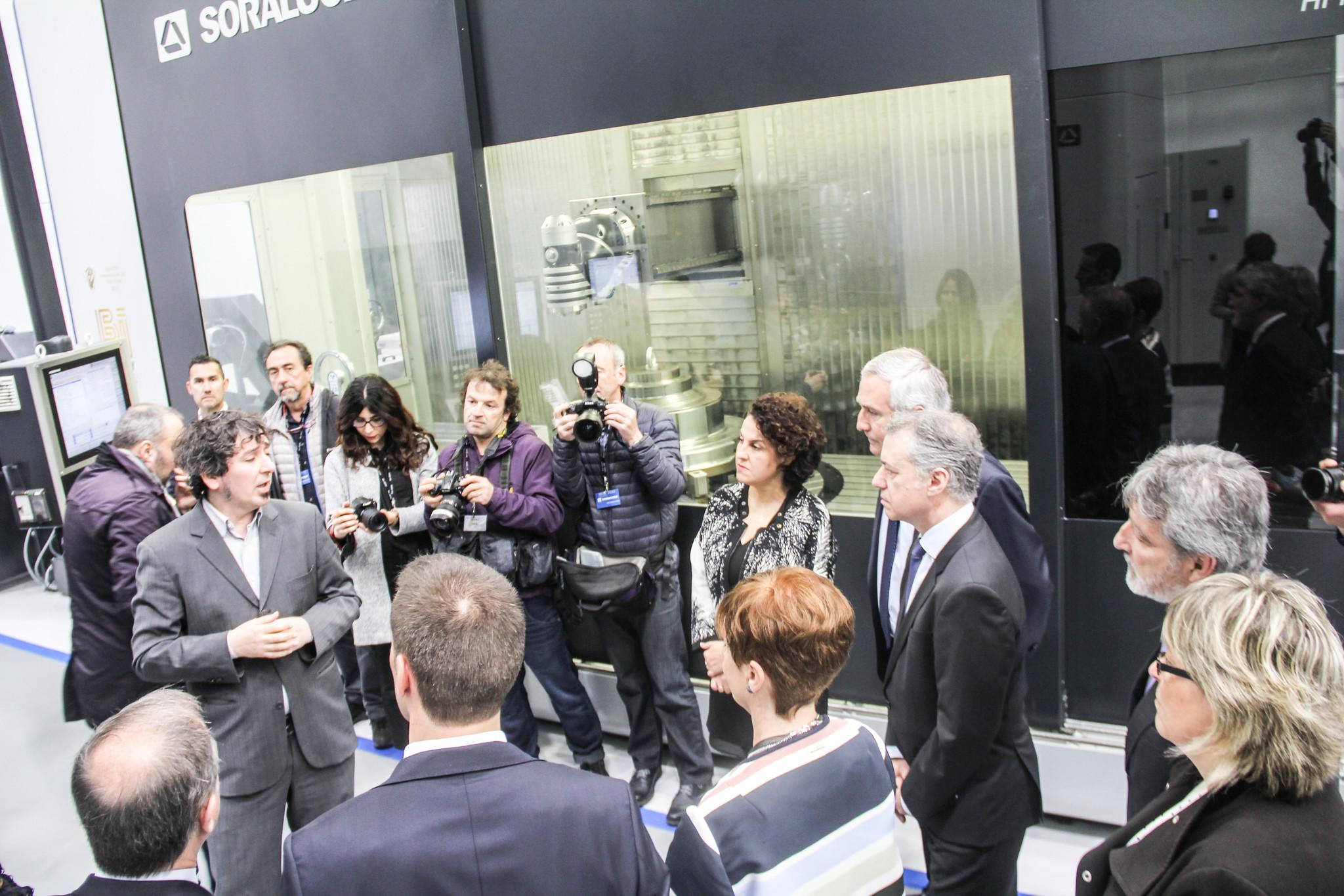 Visita de el lehendakari Urkullu a IDEKO, centro tecnológico de DANOBATGROUP