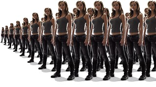 Summer Glau TSCC Cameron dream army lot of multiple attack charge side