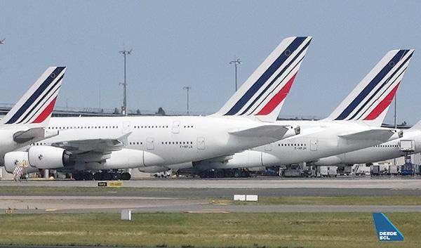 Air France A330, A380 y B747 en CDG (RD)
