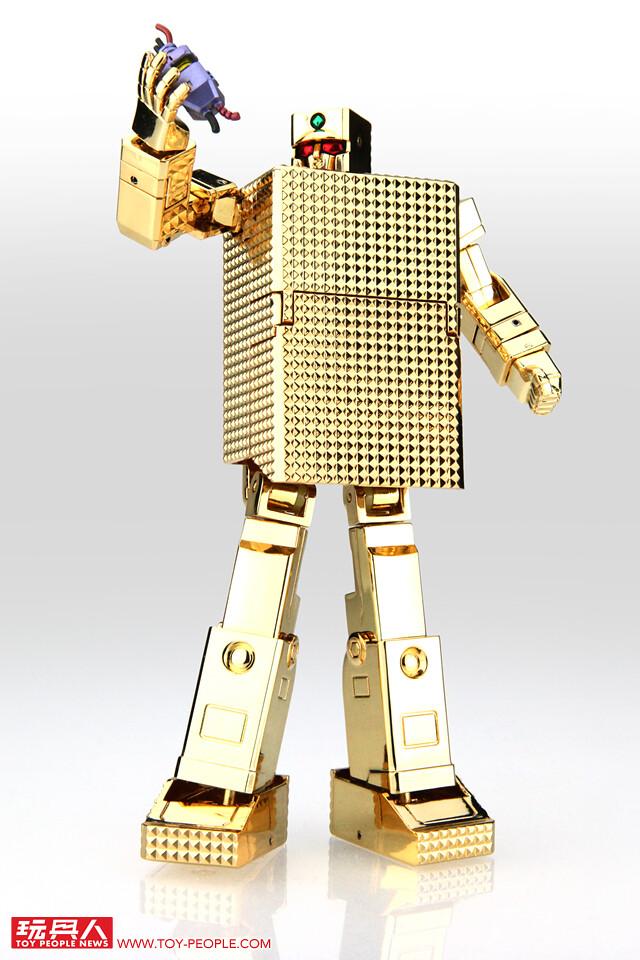 玩玩具還要買個保險櫃來放!?超合金魂 GX-32G24《黃金戰士 GOLD LIGHTAN》黃金打火機 24K純金電鍍版 開箱報告(無敵小戰士;ゴールドライタン)
