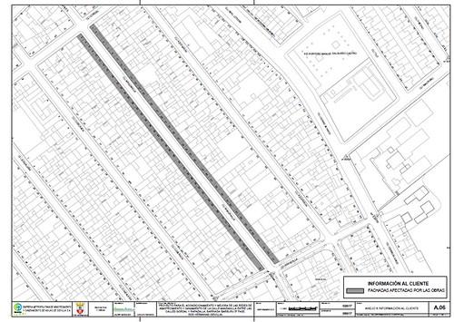 Plano de la calle Manzanilla en Ibarburu